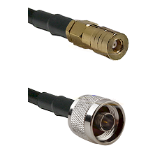 SSMB Female on LMR100 to N Reverse Thread Male Cable Assembly