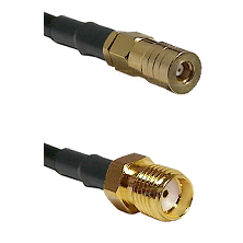 SSMB Female on LMR100 to SMA Reverse Thread Female Cable Assembly