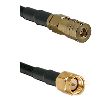SSMB Female on LMR100 to SMA Reverse Thread Male Cable Assembly