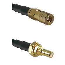 SSMB Female on LMR100 to SMB Male Bulkhead Cable Assembly