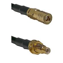 SSMB Female on LMR100/U to SMC Male Bulkhead Cable Assembly