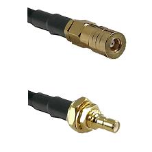 SSMB Female on LMR100/U to SSMB Male Bulkhead Cable Assembly