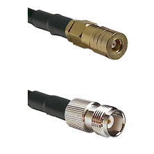 SSMB Female on LMR100 to TNC Female Cable Assembly