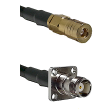 SSMB Female on LMR100 to TNC 4 Hole Female Cable Assembly