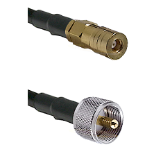 SSMB Female on LMR100 to UHF Male Cable Assembly