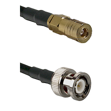 SSMB Female on RG188 to BNC Male Cable Assembly