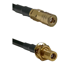 SSMB Female on RG188 to SLB Female Bulkhead Cable Assembly