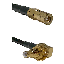 SSMB Female on RG188 to SLB Male Bulkhead Cable Assembly