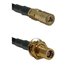 SSMB Female on RG223 to SMB Female Bulkhead Cable Assembly