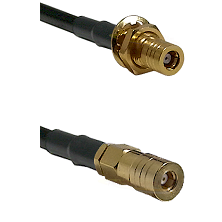 SSMB Female Bulkhead on Belden 83242 RG142 to SSLB Female Cable Assembly