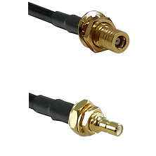 SSMB Female Bulkhead on Belden 83242 RG142 to SSMB Male Bulkhead Cable Assembly
