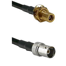 SSMB Female Bulkhead on LMR100 to BNC Female Cable Assembly