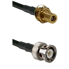 SSMB Female Bulkhead on LMR100 to BNC Male Cable Assembly