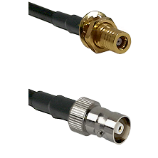 SSMB Female Bulkhead on LMR100 to C Female Cable Assembly