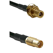 SSMB Female Bulkhead on LMR100 to MCX Female Cable Assembly