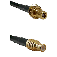 SSMB Female Bulkhead on LMR100 to MCX Male Cable Assembly