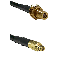 SSMB Female Bulkhead on LMR100 to MMCX Male Cable Assembly