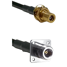 SSMB Female Bulkhead on LMR100 to N 4 Hole Female Cable Assembly