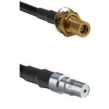 SSMB Female Bulkhead on LMR100 to QMA Female Cable Assembly