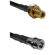 SSMB Female Bulkhead on LMR100 to QMA Male Cable Assembly