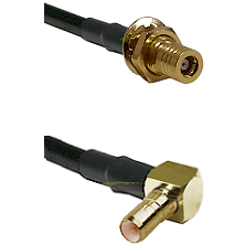 SSMB Female Bulkhead on RG188 to SSMB Right Angle Male Cable Assembly