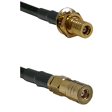SSMB Female Bulkhead on RG188 to SSMB Female Cable Assembly