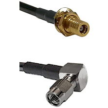 SSMB Female Bulkhead on RG316DS Double Shielded to SSMA Right Angle Male Cable Assembly
