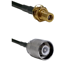 SSMB Female Bulkhead on RG400 to SC Male Cable Assembly