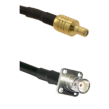SSMB Male on LMR100 to BNC 4 Hole Female Cable Assembly