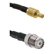 SSMB Male on LMR100 to Mini-UHF Female Cable Assembly