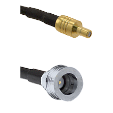 SSMB Male on LMR100 to QN Male Cable Assembly