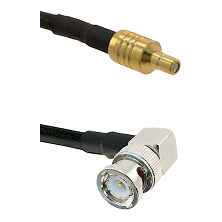 SSMB Male on LMR100 to BNC Right Angle Male Cable Assembly