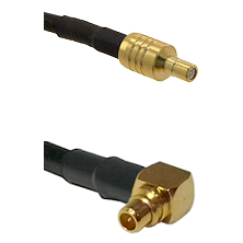 SSMB Male on LMR100 to MMCX Right Angle Male Cable Assembly