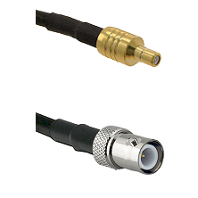SSMB Male on LMR100 to BNC Reverse Polarity Female Cable Assembly