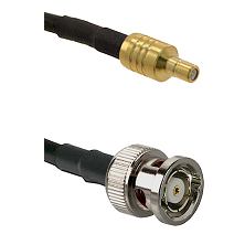 SSMB Male on LMR100 to BNC Reverse Polarity Male Cable Assembly