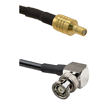 SSMB Male on LMR100 to BNC Reverse Polarity Right Angle Male Cable Assembly