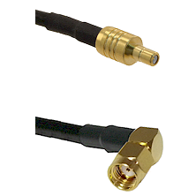 SSMB Male on LMR100 to SMA Reverse Polarity Right Angle Male Cable Assembly