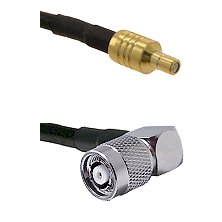 SSMB Male on LMR100 to TNC Reverse Polarity Right Angle Male Cable Assembly