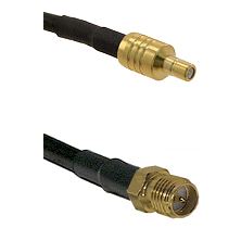 SSMB Male on LMR100 to SMA Reverse Polarity Female Cable Assembly