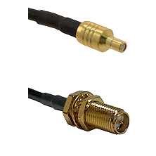 SSMB Male on LMR100 to SMA Reverse Polarity Female Bulkhead Cable Assembly