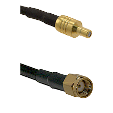 SSMB Male on LMR100 to SMA Reverse Polarity Male Cable Assembly
