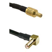 SSMB Male on LMR100 to SLB Right Angle Male Cable Assembly