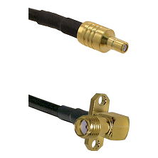 SSMB Male on LMR100 to SMA 2 Hole Right Angle Female Cable Assembly