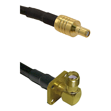 SSMB Male on LMR100 to SMA 4 Hole Right Angle Female Cable Assembly