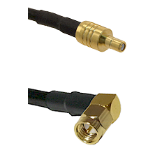 SSMB Male on LMR100 to SMA Right Angle Male Cable Assembly