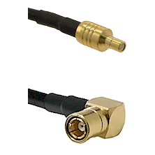SSMB Male on LMR100 to SMB Right Angle Female Cable Assembly