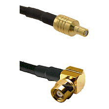 SSMB Male on LMR100/U to SMC Right Angle Female Cable Assembly