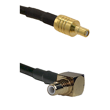 SSMB Male on LMR100/U to SMC Right Angle Male Cable Assembly