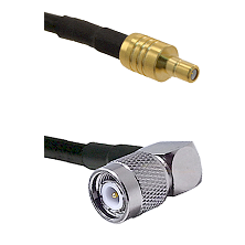 SSMB Male on LMR100 to TNC Right Angle Male Cable Assembly