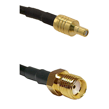 SSMB Male on LMR100 to SMA Reverse Thread Female Cable Assembly